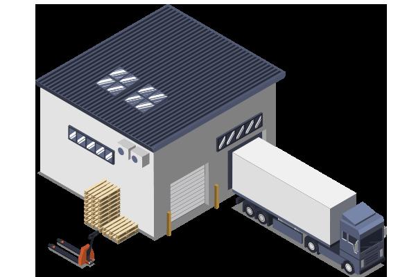 トラック運送のイラスト
